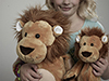 Lenny The Lion Toy Small + Pump Carrying Case