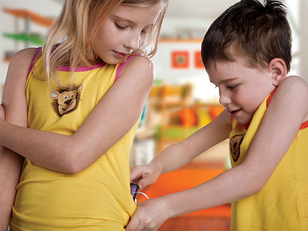 Lenny® Trägerhemd für Kinder – ORANGE (Alle MiniMed® Pumpen)